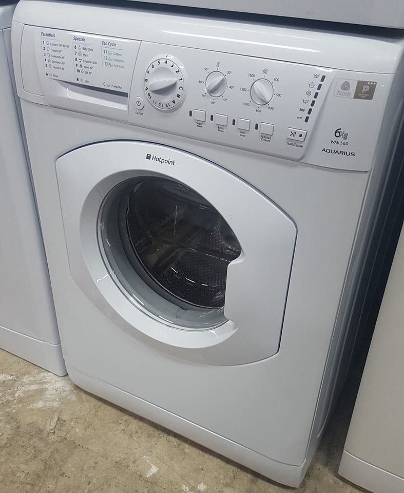 q327 white hotpoint 6kg 1600spin washing machine comes with warranty can be delivered or collected