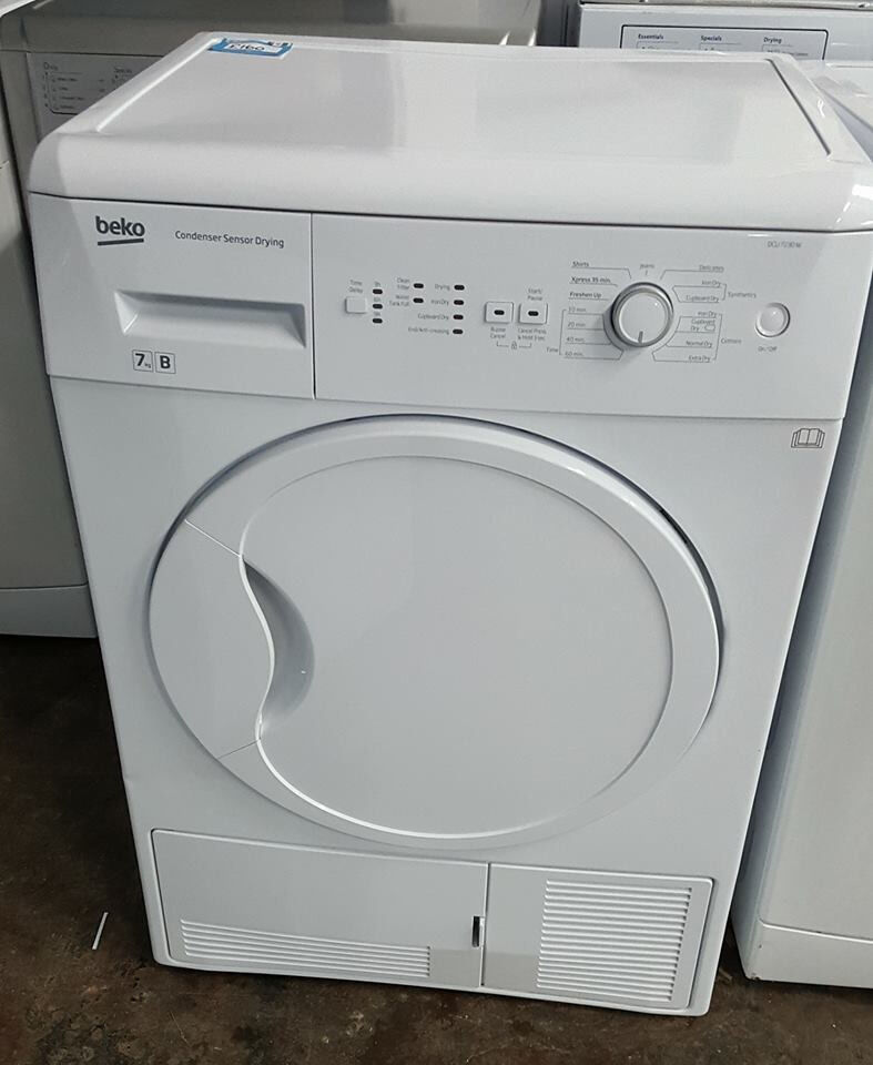 q311 white beko 7kg b rated condenser dryer comes with warranty can be delivered or collected