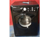 x428 black hotpoint 7kg 1400spin washing machine comes with warranty can be delivered or collected