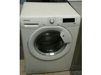 d475 white hoover 8kg 1600spin A++ rated washing machine comes with warranty can be delivered