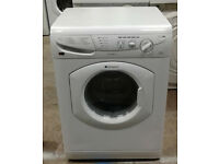 q028 white hotpoint 5kg+5kg 1400spin washer dryer comes with warranty can be delivered or collected