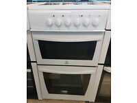 a495 white indesit 50cm ceramic hob electric cooker comes with warranty can be delivered