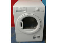 a686 white hotpoint 7kg condenser dryer comes with warranty can be delivered or collected