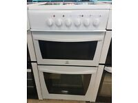h495 white indesit 50cm ceramic hob electric cooker comes with warranty can be delivered