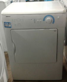 C403 white beko 6kg vented dryer comes with warranty can be delivered or collected