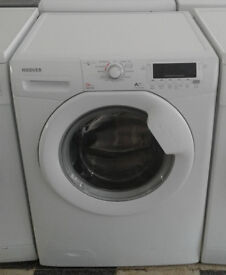 c662 white hoover 9kg 1500spin A++ washing machine comes with warranty can be delivered or collected