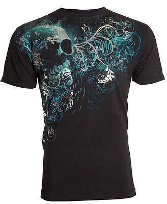 Archaic Affliction Mens T Shirt Mournful Skull Tattoo Fight Biker Ufc M 4Xl  40