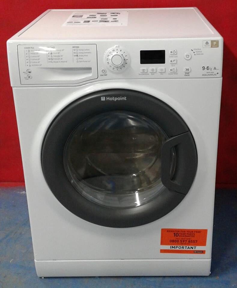 AA555 white hotpoint 9kg&6kg 1400spin A rated washer dryer new with manufacturers warranty