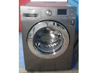 m102 silver samsung 9kg 1400spin washing machine comes with warranty can be delivered or collected