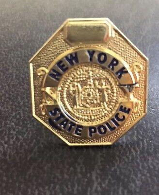 NEW YORK STATE POLICE MINI BADGE LAPEL PIN NOS