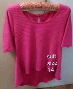 Pink 3/4 sleeve top size 14 Napoleons Golden Plains Preview