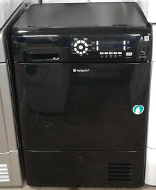 A132 black hotpoint 7kg condenser dryer comes with warranty can be delivered or collected
