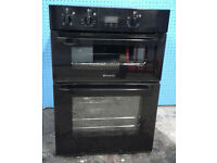 b370 black hotpoint integrated double electric cooker comes with warranty can be delivered