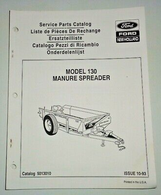 New Holland 130 Manure Spreader Parts Catalog Manual Book Nh Oem