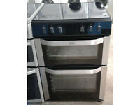 a146 stainless steel belling 60cm double oven electric cooker comes with warranty can be delivered
