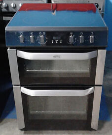 F475 stainless steel belling 60cm ceramic hob double oven electric cooker comes with warranty