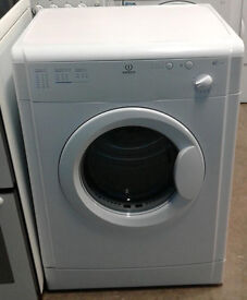 B593 white indesit 6kg vented dryer comes with warranty can be delivered or collected