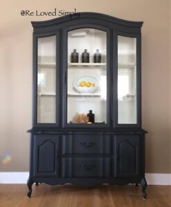 French Provincial China Cabinet.