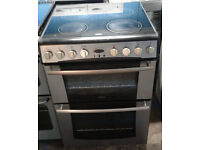 a127 stainless steel belling 60cm double oven ceramic hob electric cooker comes with warranty