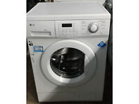 a468 white lg 1200spin washing machine comes with warranty can be delivered or collected