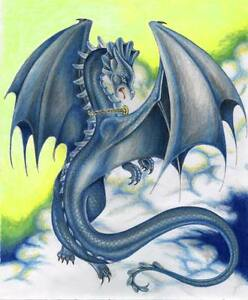 Original Dragon Art from published book 8x10 local artist OOAK