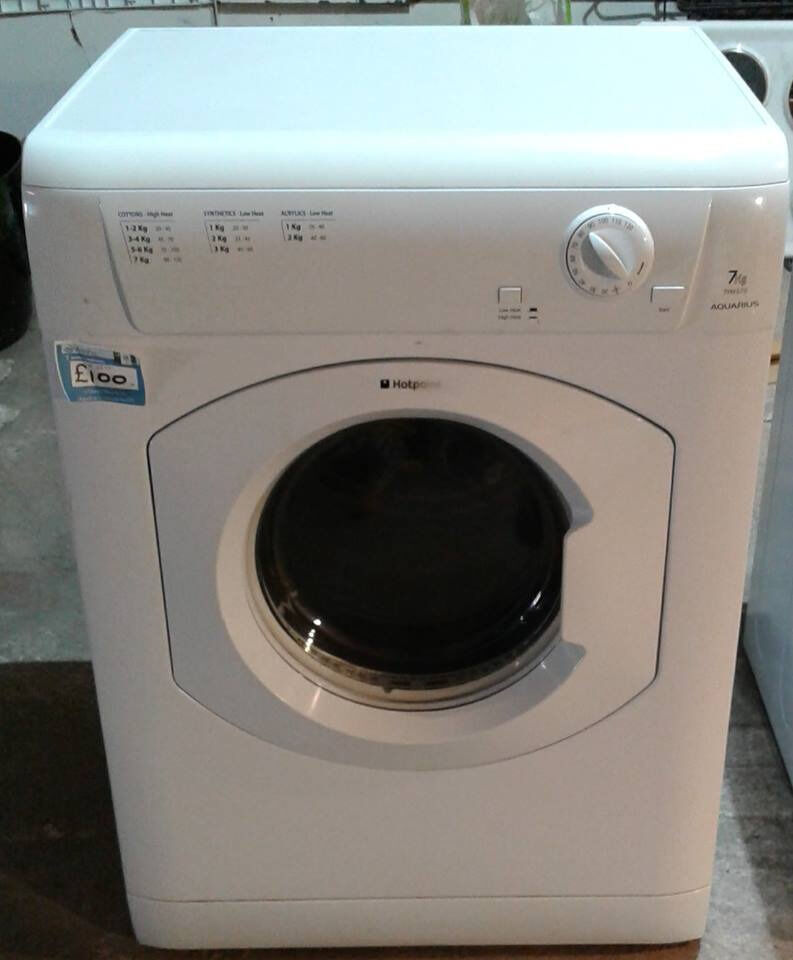 AA350 white hotpoint 7kg vented dryer comes with warranty can be delivered or collected