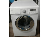 a458 white LG 7.5kg 1500spin washing machine comes with warranty can be delivered or collected