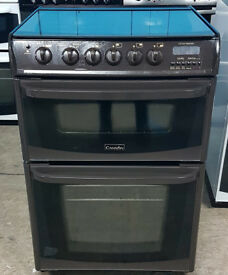 n495 brown cannon 60cm double oven gas cooker comes with warranty can be delivered or collected