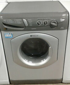 p444 silver hotpoint 5kg&5kg 1400spin washer dryer comes with warranty can be delivered or collected