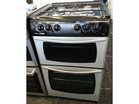 Ho92 silver newworld 55cm gas cooker comes with warranty can be delivered or collected