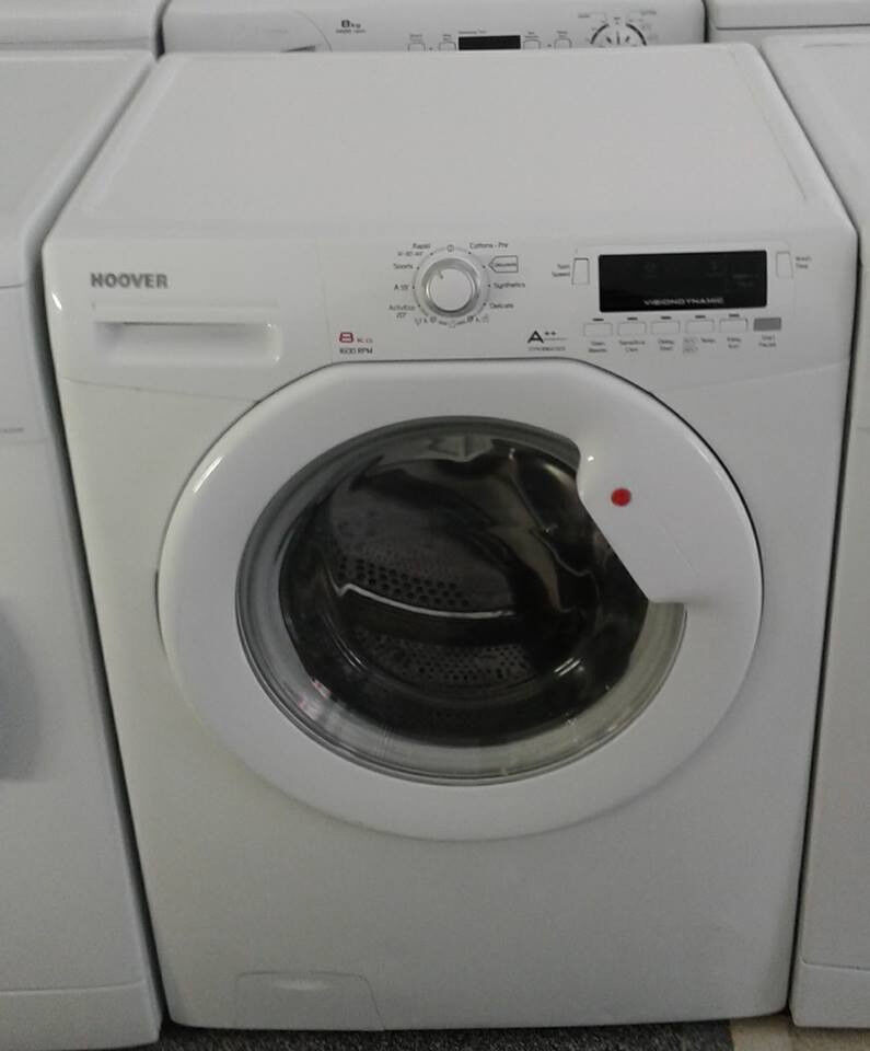 J681 white hoover 8kg 1600 spin washing machine comes with warranty can be delivered or collected