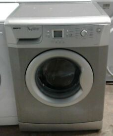 k786 silver beko 7kg 1400spin A+A rated washing machine comes with warranty can be delivered