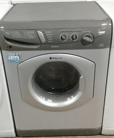 z444 silver hotpoint 5kg&5kg 1400spin washer dryer comes with warranty can be delivered or collected