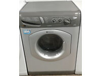 AA444 silver hotpoint 5kg&5kg 1400spin washer dryer comes with warranty can be delivered