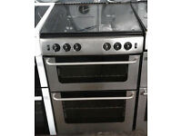 p824 stainless steel belling 60cm double oven gas cooker comes with warranty can be delivered