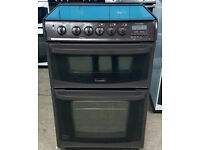 c495 brown cannon 60cm double oven gas cooker comes with warranty can be delivered or collected