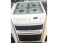 g175 white cannon 60cm gas cooker comes with warranty can be delivered or collected