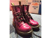 Purple Patent Dr Martens 1460 Lamper Boots