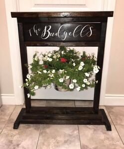 Rustic  Personalized Planters