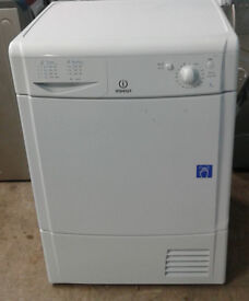 j485 white indesit 7kg condenser dryer comes with warranty can be delivered or collected