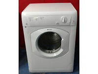 k004 white hotpoint 7kg B rated vented dryer comes withw arranty can be delivered or collected