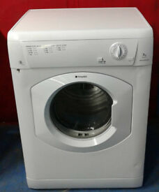 m004 white hotpoint 7kg B rated vented dryer comes with warranty can be delivered or collected