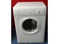 a004 white hotpoint 7kg B rated vented dryer comes with warranty can be delivered or collected