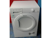 C609 White Hotpoint 8kg Condenser Dryer, Comes With Warranty & Can Be Delivered Or Collected