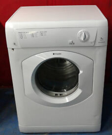 n004 white hotpoint 7kg B rated vented dryer comes with warranty can be delivered or collected