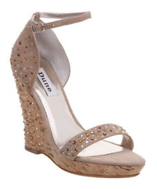 Diamante Suede Wedges by DUNE SIZE 5