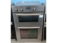 C183 stainless steel electrolux double integrated electric oven comes with warranty can be delivered