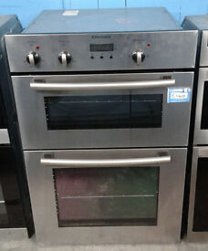 H183 stainless steel electrolux double integrated electric oven comes with warranty can be delivered