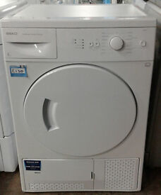 p479 white beko 6kg condenser dryer comes with warranty can be delivered or collected