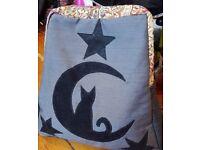 Handmade Cat, Moon & Stars Backpack from Lisbon